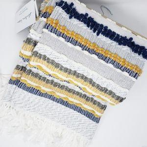 LONDON KAYE handwoven throw blanket in stripe